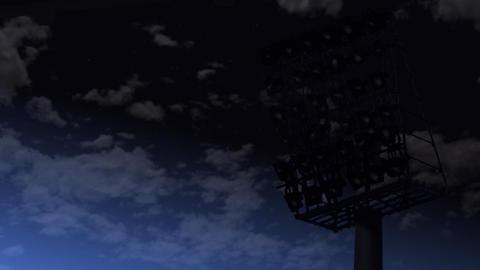illuminated stadion Stock Video Footage