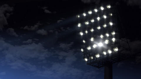 illuminated stadion Stock Video Footage