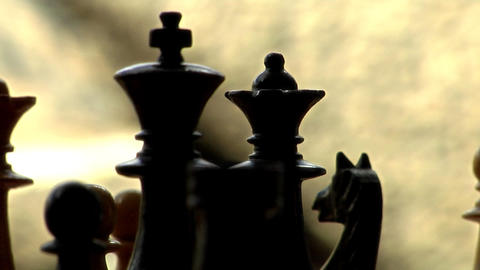 Chess King Queen radial dolly track Stock Video Footage