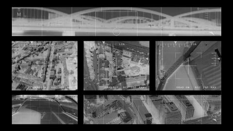 infrared Helicopter observation Stock Video Footage