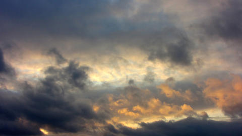 Clouds Timelapse 4 Stock Video Footage