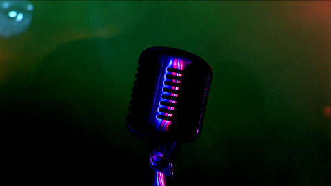 Microphone 1 Stock Video Footage