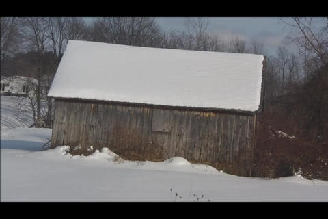 lonely barn Stock Video Footage