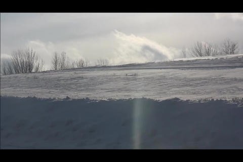 snowbank and cloud Stock Video Footage