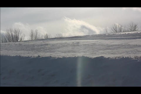 snowbank and cloud Footage