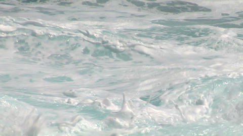 sea wave foam 105 Footage