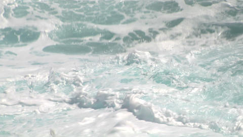 sea wave foam 208 Stock Video Footage