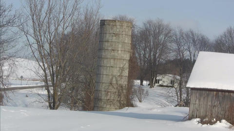 Lonely silo large size Stock Video Footage