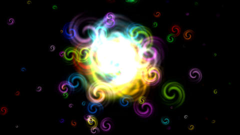 color explosion Stock Video Footage
