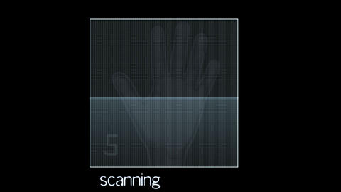hand scanner Animation