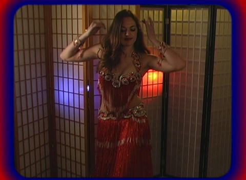 Beautiful Exotic Belly Dancer (1) Stock Video Footage