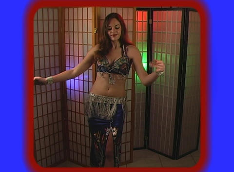 Beautiful Exotic Belly Dancer (5) Stock Video Footage