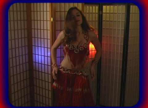 Beautiful Exotic Belly Dancer (4) Stock Video Footage