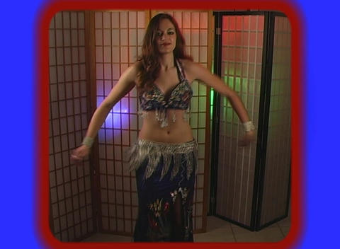 Beautiful Exotic Belly Dancer (8) Stock Video Footage