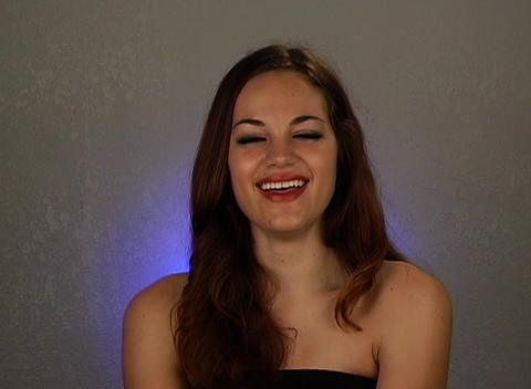 Beautiful Brunette Laughing (1) Stock Video Footage