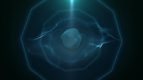 Abstract digital eye transmitting 3D visions Animation