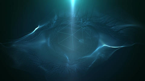 Abstract Digital Eye Transmitting 3D Visions stock footage