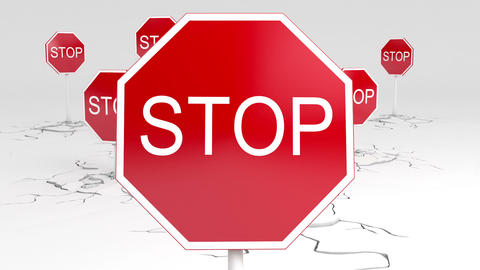 3d stop sign animation Animation