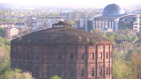 Historic gasworks in Poland (Europe) Live Action