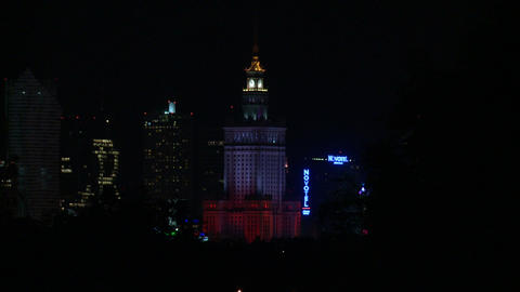 Warsaw Downtown - Palace of Culture and Science Live Action