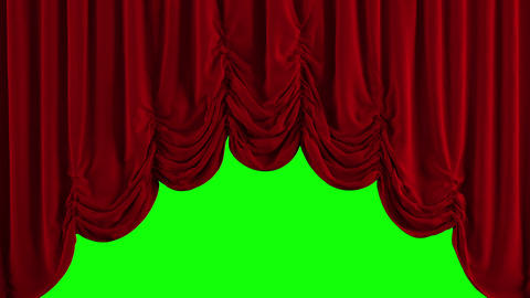 Red Austrian Stage Curtain go UP and DOWN Animation