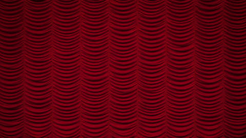 Red Austrian curtain falls/closing Animation