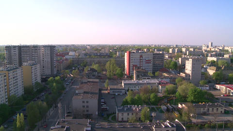 Panorama of warsaw (to the north) Footage