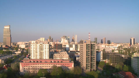 Warsaw time lapse - interval recording from roof Footage