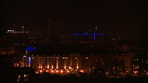 Warsaw night (chimneys) - with corection Footage
