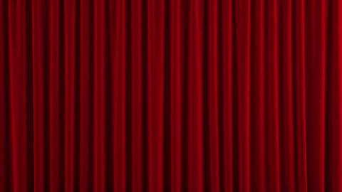 Red theater curtain GO up Stock Video Footage