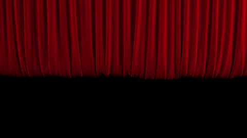Red theater curtain GO up Animation