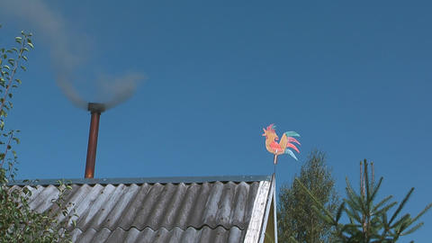 The smoke from the chimney Footage