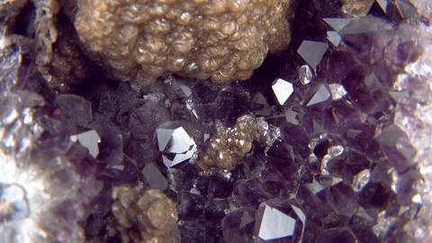 Amethyst Close Up 01 stock footage