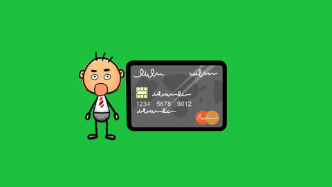 Smashed by a Credit Card: Animation + Green Screen Animation