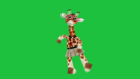 Dancing Giraffe: Green Screen + Looping stock footage