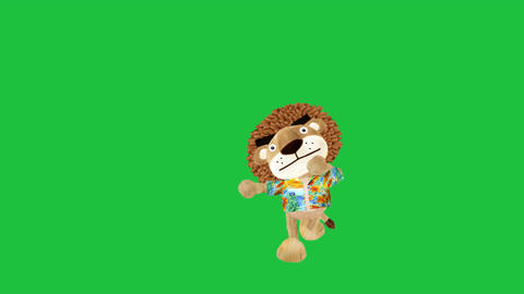 Dancing Lion: Green Screen + Looping Animation