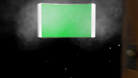 Opening Doors Transition: Green Screen stock footage