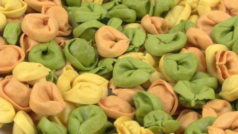 Pasta Tortelli 01 stock footage