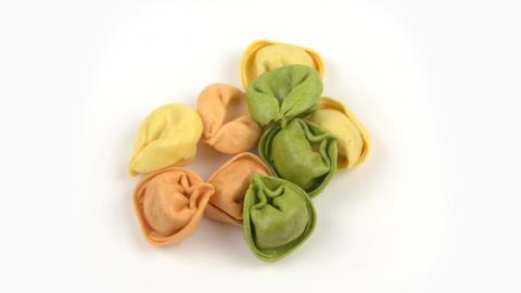 Pasta Tortelli 02 stock footage