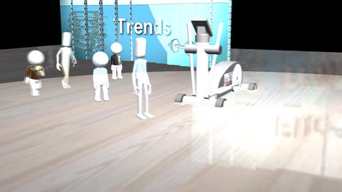 Chasing Fitness Trends: With Video Panel Animation