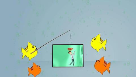 Man in Aquarium (Version 2): Looping Animation