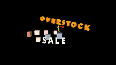 Overstock Sale, with Super Hero Animation