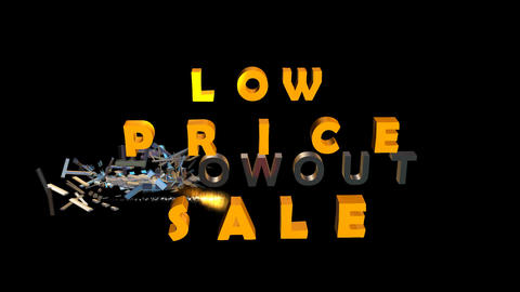 "Low Price ""Blow Out"" Sale Animation"