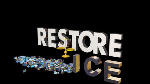 Restore Justice: Animation stock footage