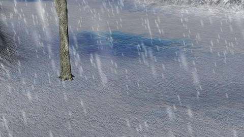 Snow in a Field: Loopable Animation