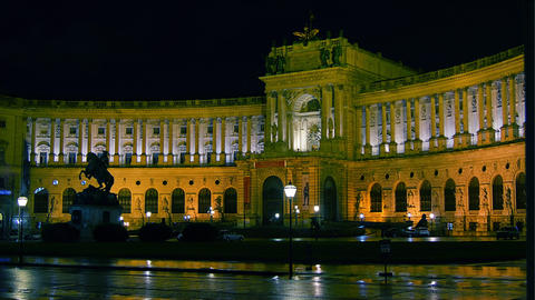 Hofburg Palace In Vienna On The Rainy Day stock footage