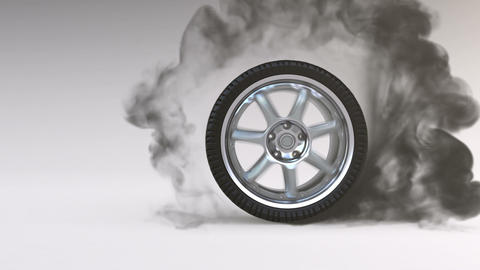 Burning Tire stock footage