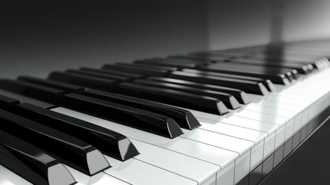 Loopable Piano Keyboard stock footage