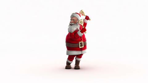 Funny Santa Dancing stock footage
