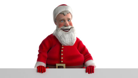 Santa claus looks from behind Stock Video Footage